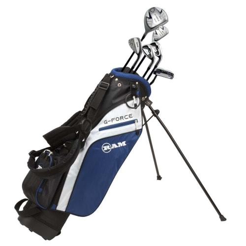 Ram Golf Junior G-Force Boys Golf Clubs Set with Bag - Lefty - Age 7-9