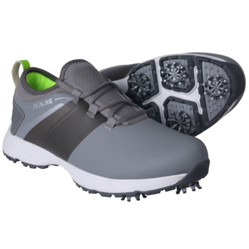 Ram Golf XT1 Mens Golf Shoes, Spiked, Grey