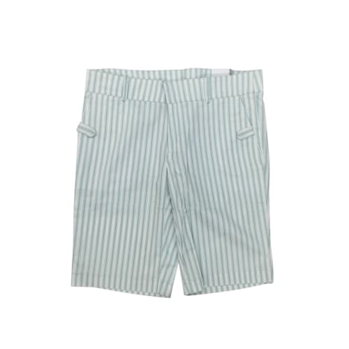 Ashworth Ladies White Shorts with Green Stripes Size 6