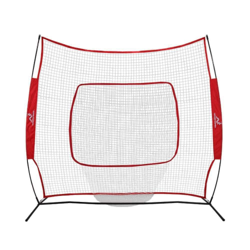 OPEN BOX Woodworm Baseball and Softball 7ft x 7ft Practice Net - Quick Set up with Carrying Case