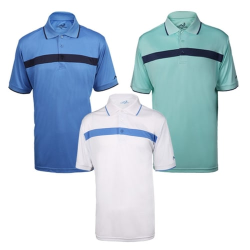 Woodworm Golf Colour Block Golf Polo Shirt 3 Pack