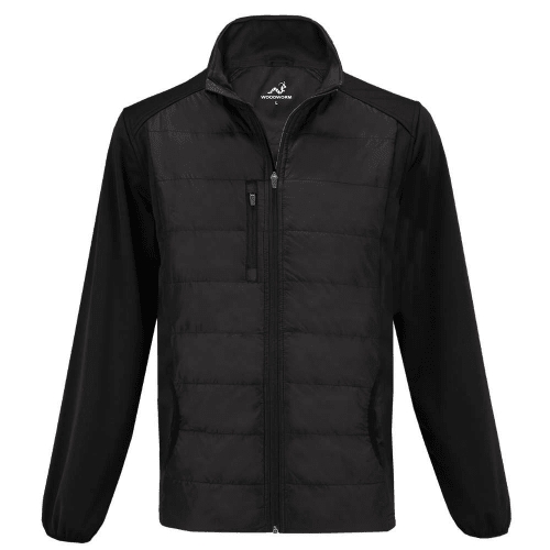 Woodworm Full Zip Padded Mens Golf Jacket - Windproof - Black