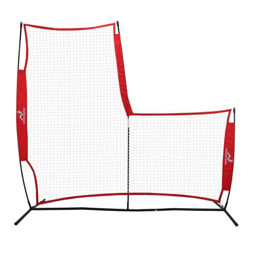 Woodworm Portable Baseball Screen - Pop-Up Pitching Protecting L-Screen Net and Frame