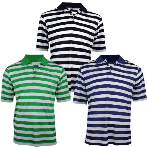 Woodworm Pro Striped Polo - 3 Pack
