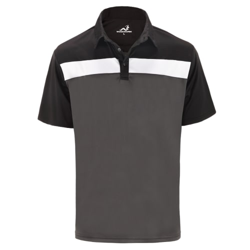 Woodworm Golf Shirt - Tour Panel Polo - Mens - Grey