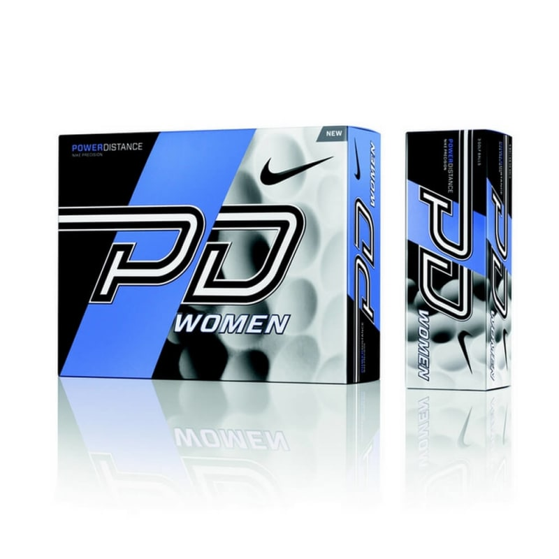 6 x 12 Nike Power Distance 9 Soft Golf Balls White