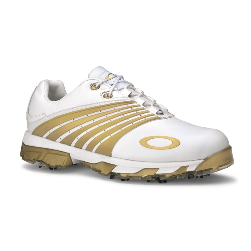 Oakley Full Auto Tour Regular Fit Golf Shoes - White/Gold