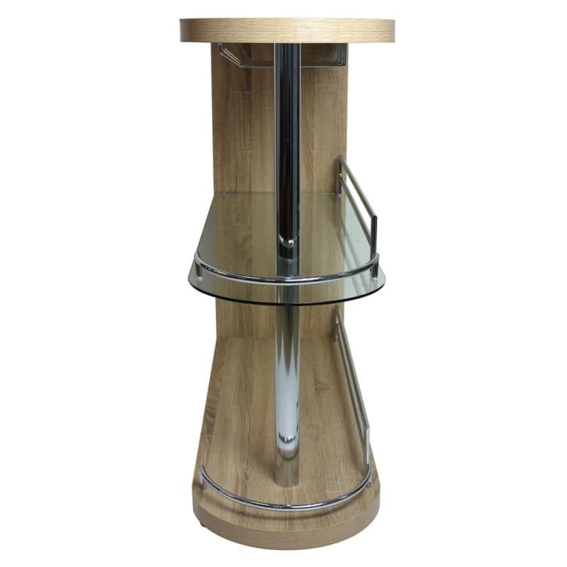 Homegear Deluxe Kitchen Bar Table - Oak #3