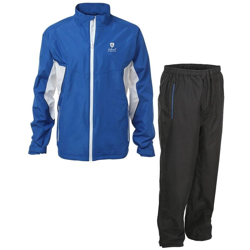 Island Green Golf Mens Waterproof Suit Marine Blue