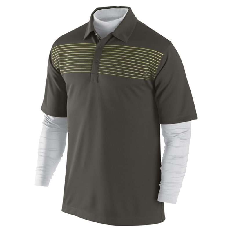 Nike Stripe Layered Polo Sable - Green