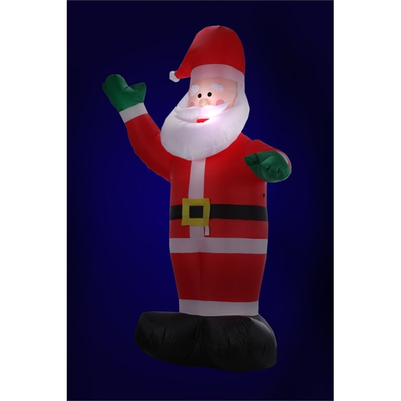 Homegear Christmas 6ft Inflatable Santa For Indoor/Outdoor Use with LED Lights #1