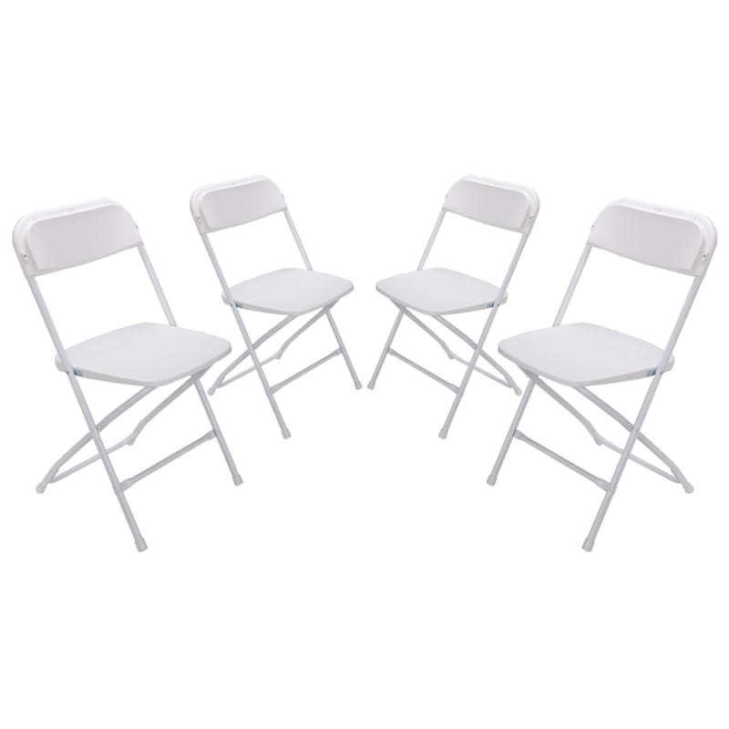 Palm Springs Heavy Duty Folding Plastic/Steel Chairs – 4 PACK #1