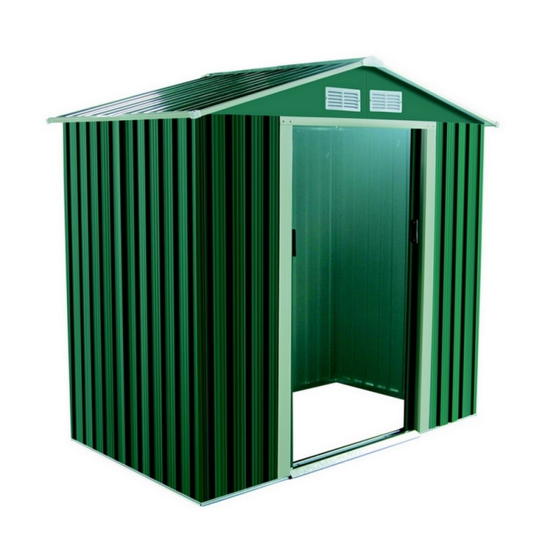 Palm Springs 6ft x 4ft Apex Metal Garden Shed
