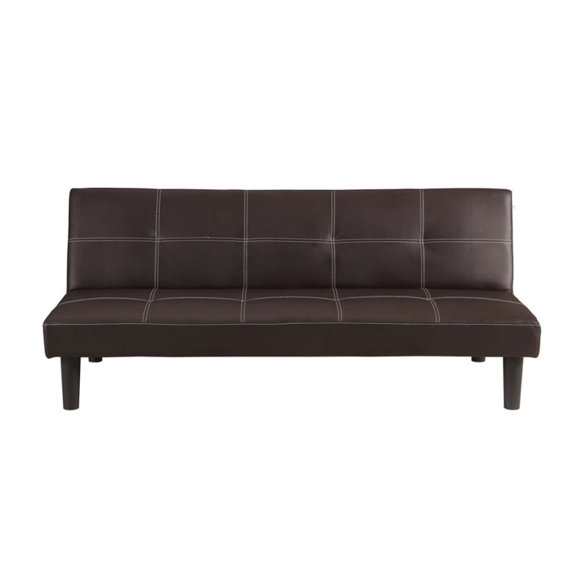 Homegear Faux Leather Sofa Bed Brown