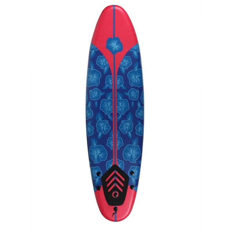 EX-DEMO North Gear 6ft / 182cm Foam Surfboard Blue / Red