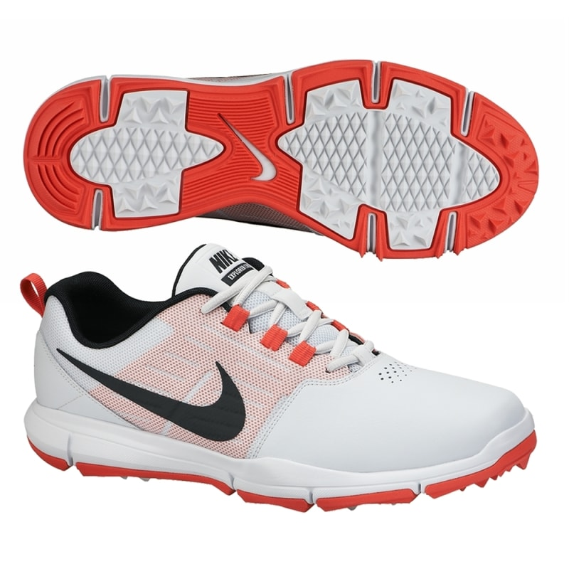 Nike Explorer Golf Shoes - White / Black / Red