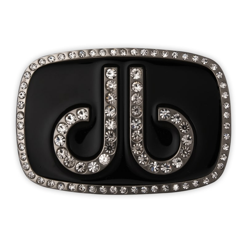 Druh Diamante Oval Buckle - Black
