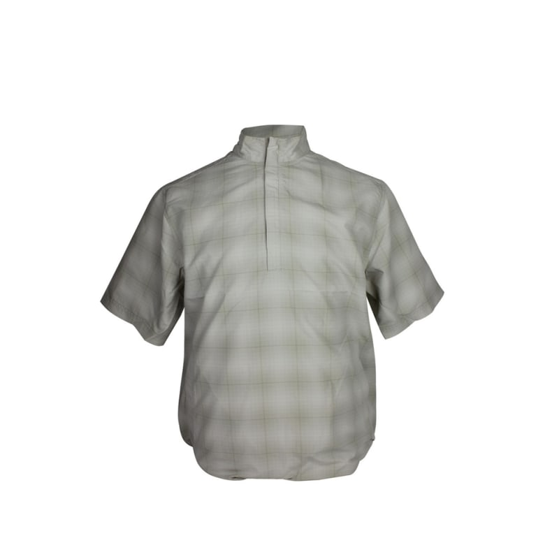 Ashworth Short Sleeve Checkered Half Zip Windshirt
