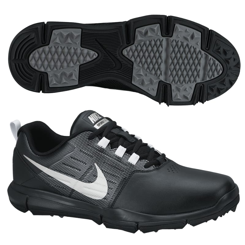 Nike Explorer Golf Shoes - Black / Silver / Grey