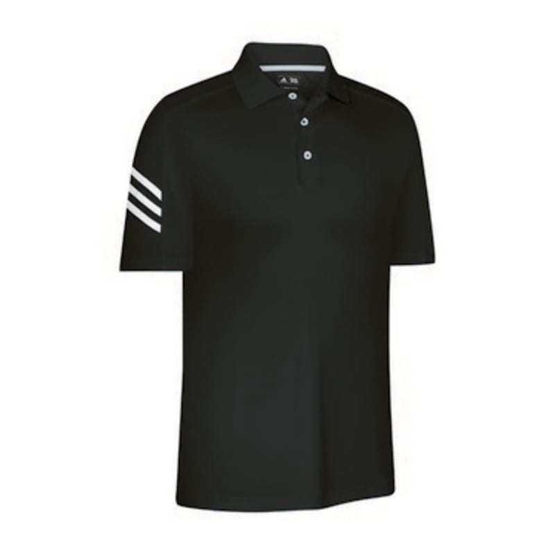 Adidas Mens ClimaCool 3 Stripe Polo