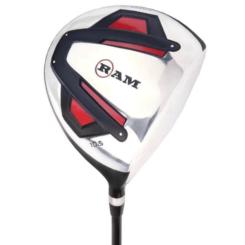 Ram Golf Accubar 12pc Golf Clubs Set - Graphite Shafted Woods, Steel Shafted Irons - Mens Right Hand #