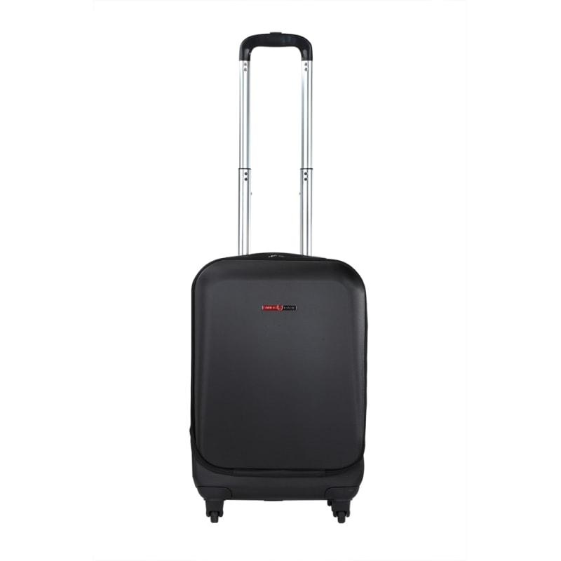 "OPEN BOX Swiss Case 20"" ABS 4W Suitcase Zip Pocket #1"