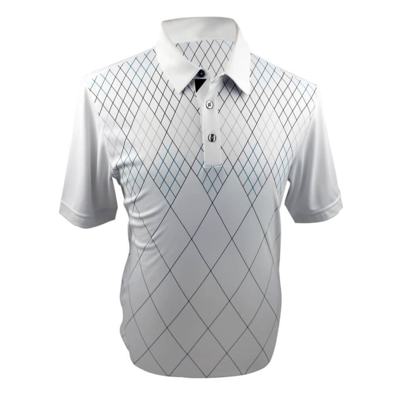 Ashworth Performance Double-Knit Front Panel Polo