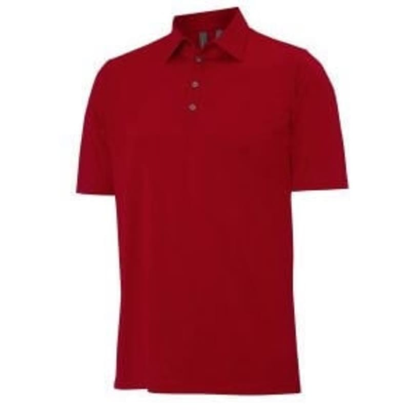 Ashworth Solid Basic Pima Polo Scarlet