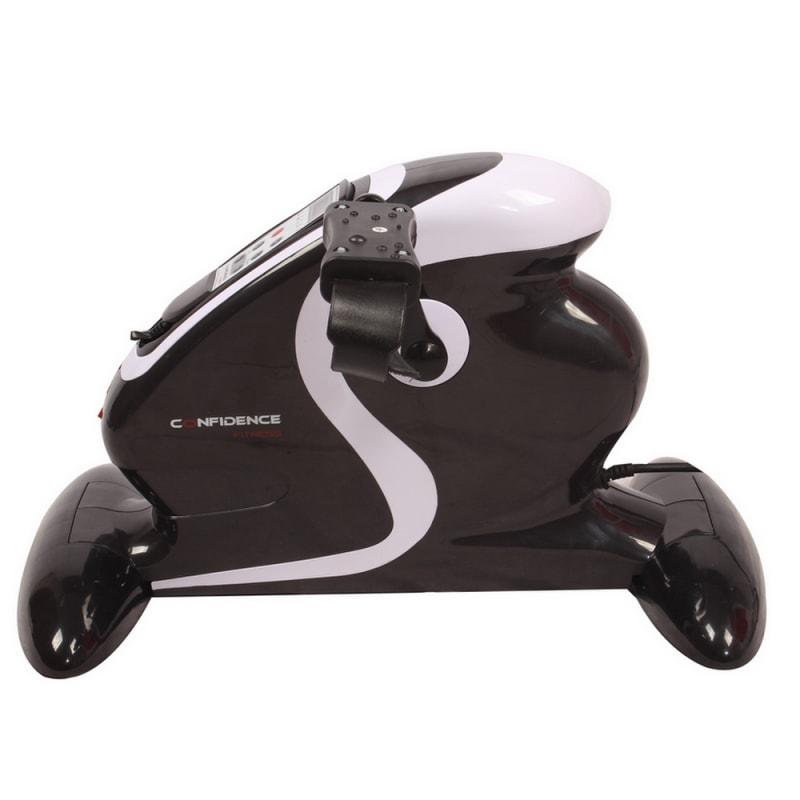 OPEN BOX Confidence Fitness Motorized Electric Mini Exercise Bike Black / White #1