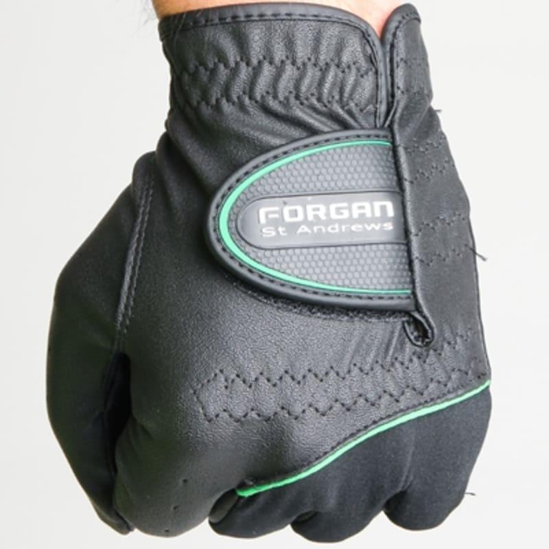 2 Forgan of St Andrews MENS AW Left Hand Golf Gloves Black #1