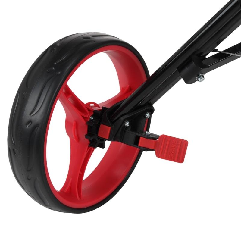Caddymatic Golf 360° SwivelEase 3 Wheel Folding Golf Cart Black/Red #5