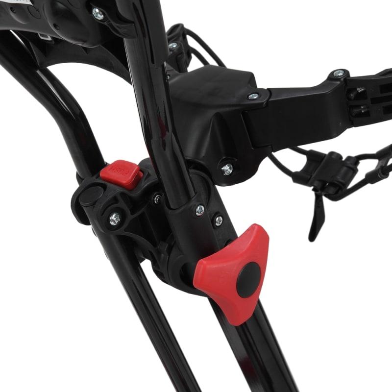 Caddymatic Golf Quad 4-Wheel Folding Golf Pull / Push Cart Black/Red #4