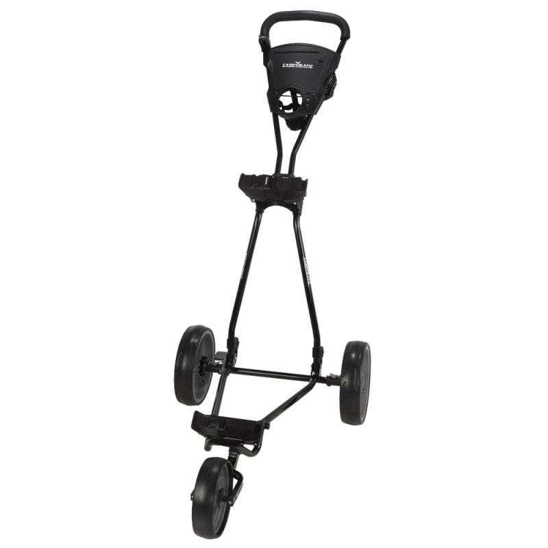 OPEN BOX Caddymatic Golf Continental 3 Wheel Folding Golf Push/Pull Cart Black/Grey #