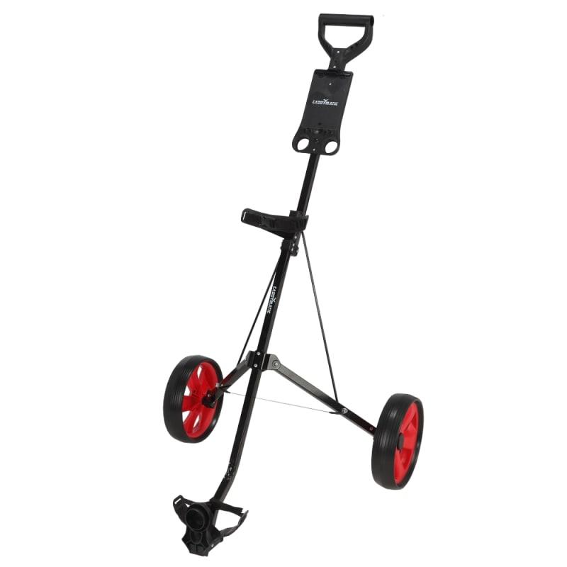 Caddymatic Golf i-Trac 2 Wheel Folding Golf Cart Black/Red #
