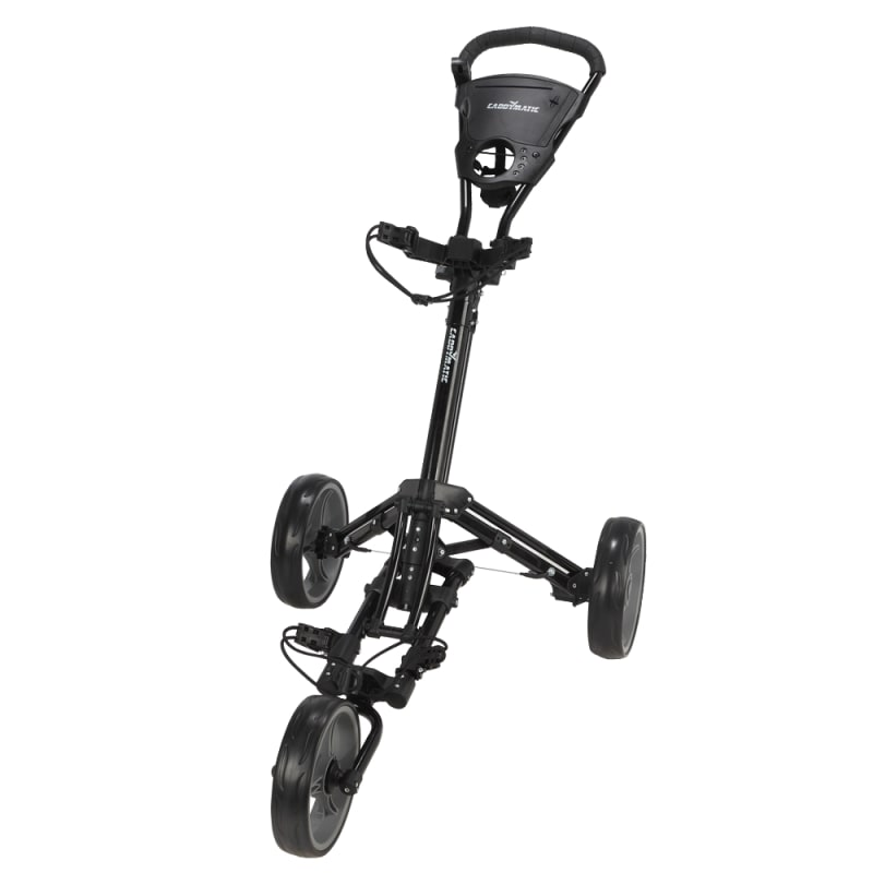 OPEN BOX Caddymatic Golf X-Lite One-Click Folding Pull/Push Golf Cart Black #