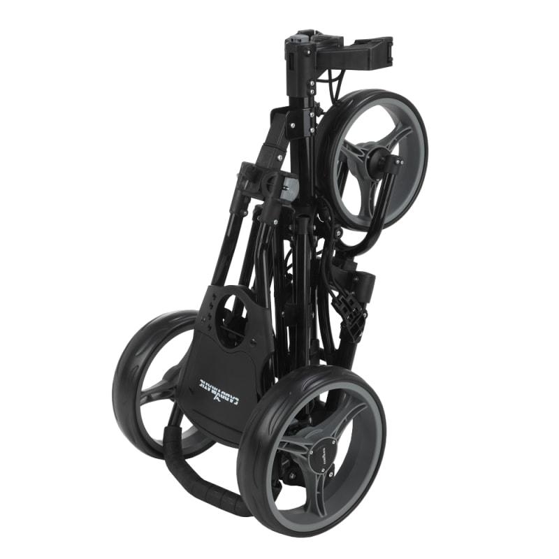 OPEN BOX Caddymatic Golf X-Lite One-Click Folding Pull/Push Golf Cart Black #1