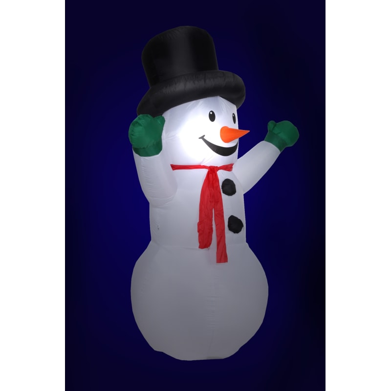 Homegear Christmas 6ft Inflatable Snowman For Indoor/Outdoor Use with LED Lights #5