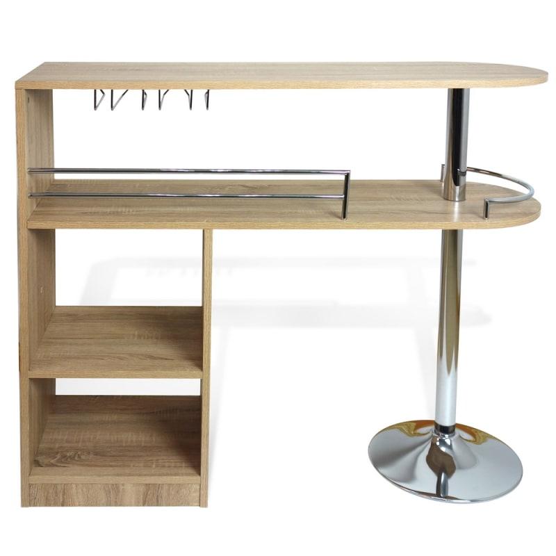 Homegear Kitchen Cocktail Bar Table - Oak #2