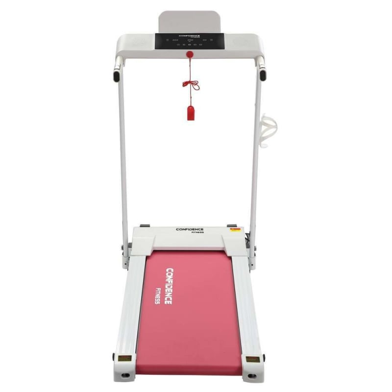 Confidence Fitness Ultra 200 Treadmill Electric Motorized Running Machine White/Pink #1