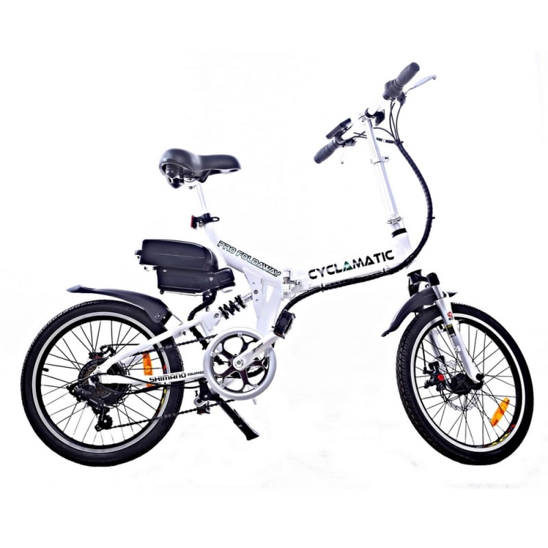 EX-DEMO Cyclamatic CX4 Pro Folding Electric Bike-White