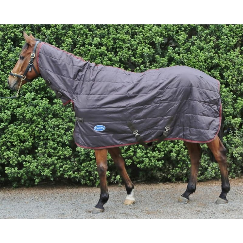 Barnsby 210D Equestrian Horse Stable Rug / Blanket - With Neck Combo Brown