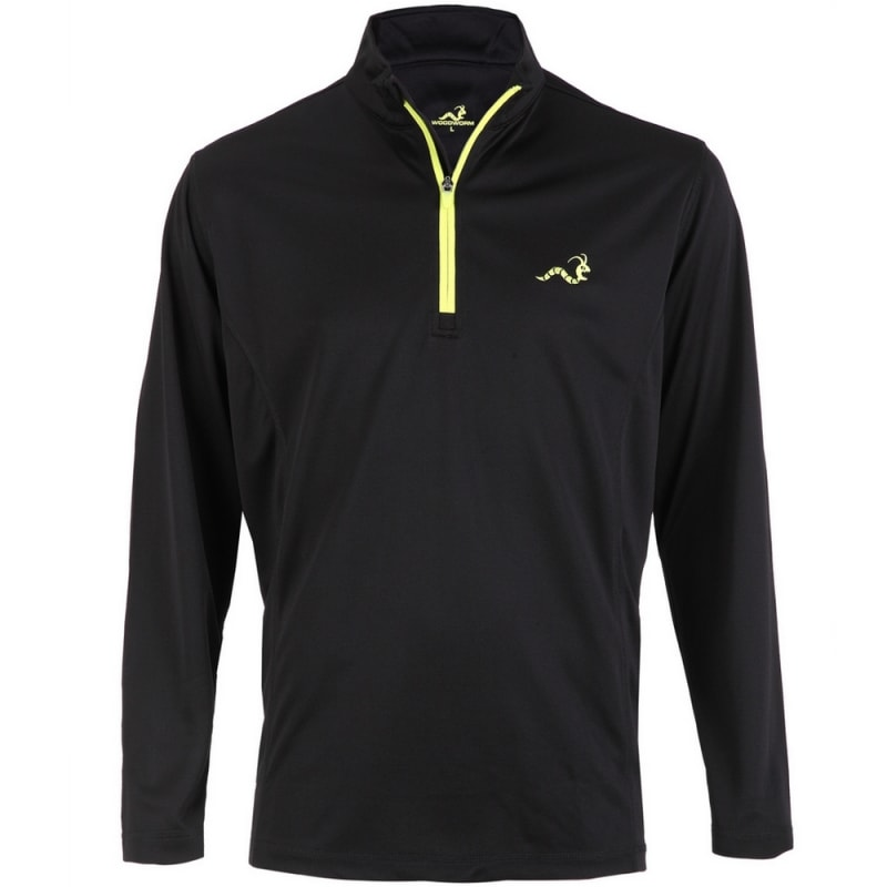 Woodworm 1/4 Zip Golf Pullover - Black/Neon