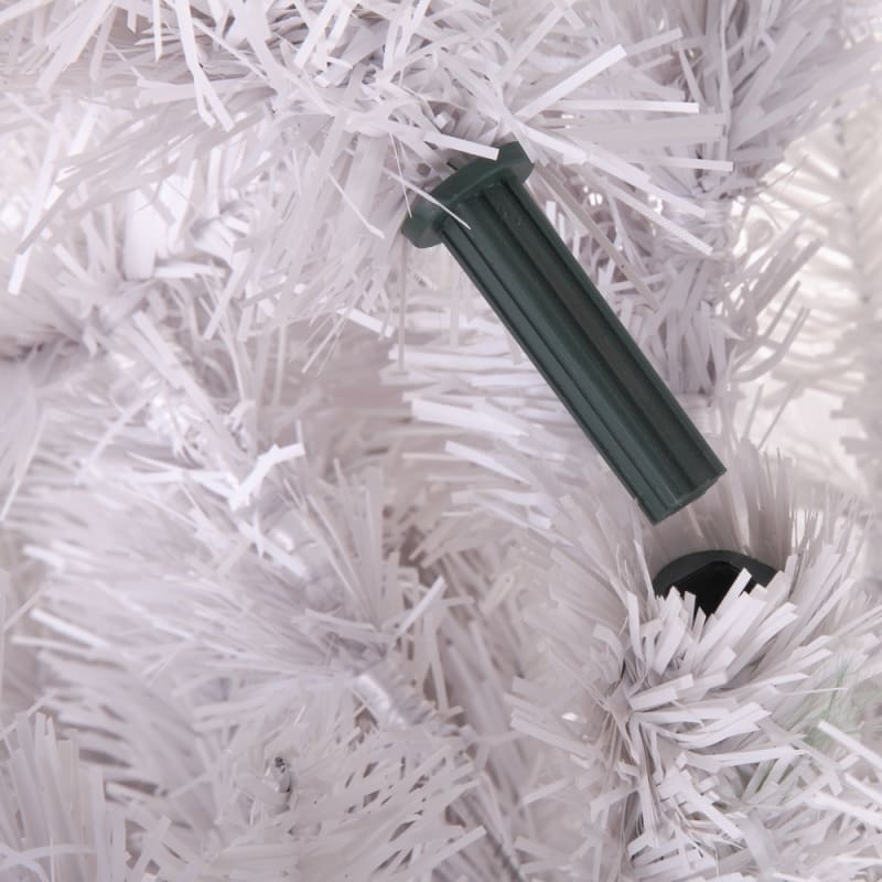 OPEN BOX Homegear 6ft White Artificial Xmas Tree #6