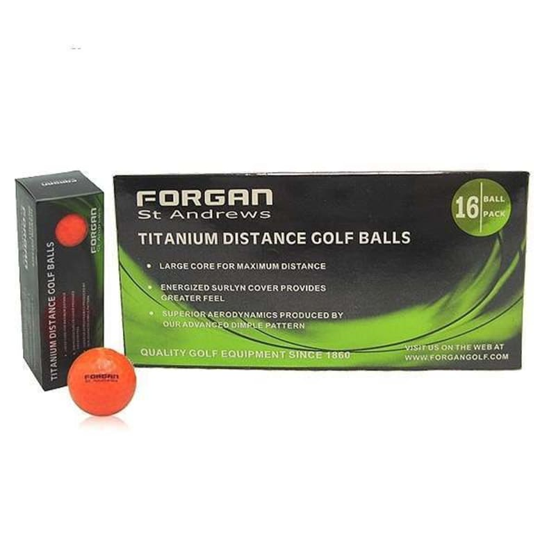 160 Forgan St Andrews TT Golf Balls Orange