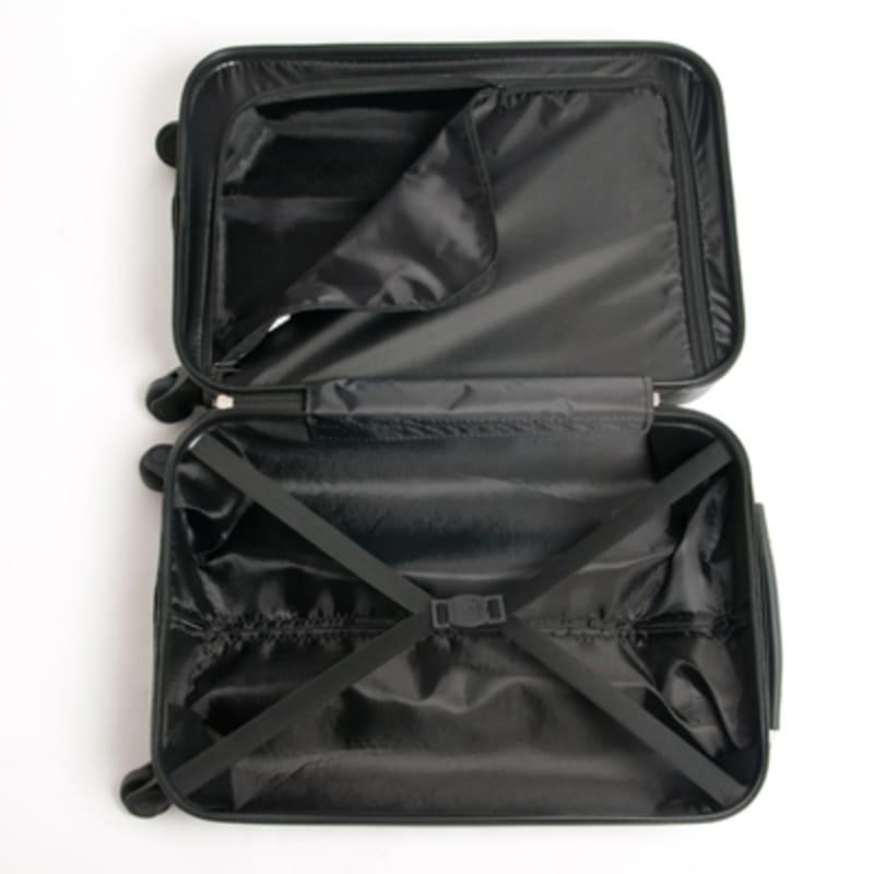 "OPEN BOX Swiss Case Diamond Black 28"" 2 PC Spinner Luggage #6"