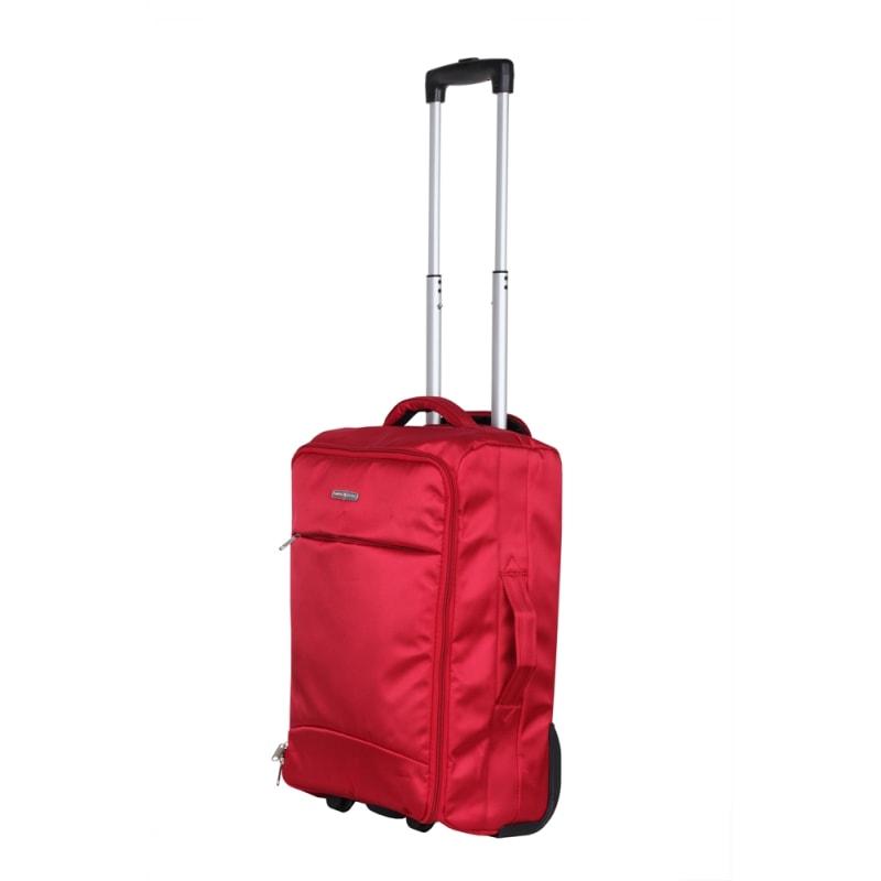 "Swiss Case 20"" Lightweight Folding Suitcase Red"