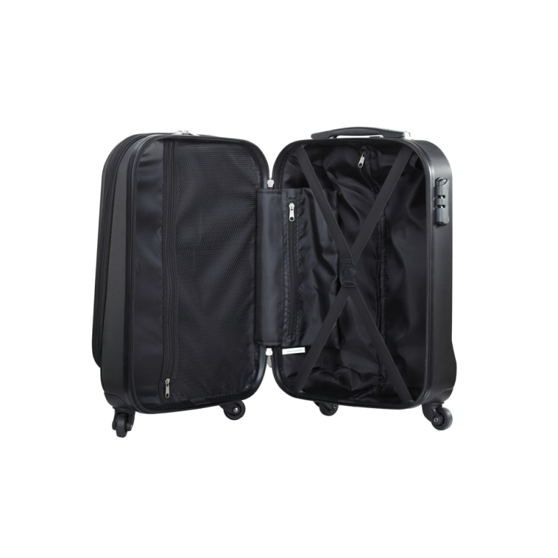 "Swiss Case 20"" ABS 4 Wheel Suitcase W/ Zip Pocket #5"