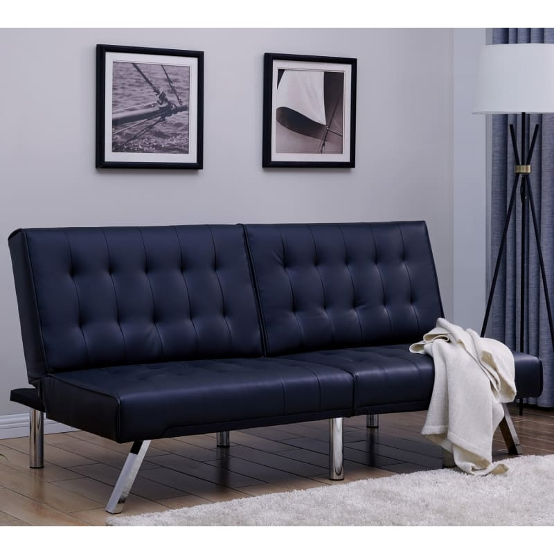 Homegear Furniture Futon Sofa Bed Split Back Couch #2