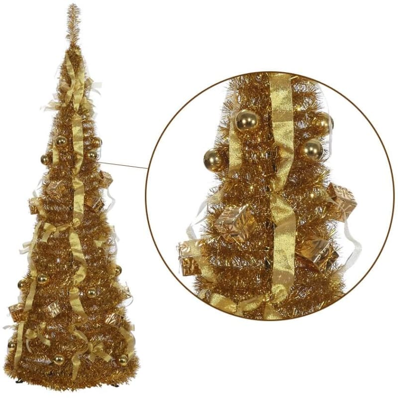 Homegear 5ft Collapsible Christmas Tree Gold