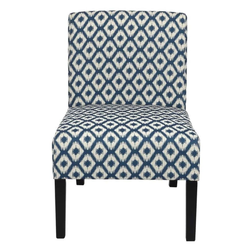 Homegear Home Furniture Accent Armless Chair - Contemporary Designs - Blue Diamonds #1